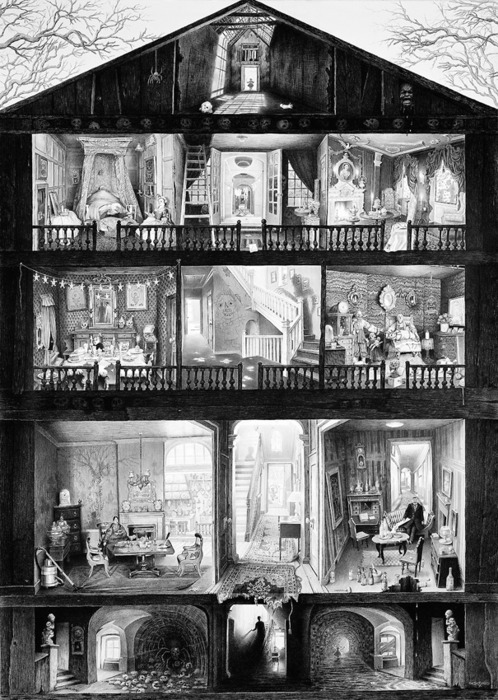 Haunted doll's house  by Laurie Lipton