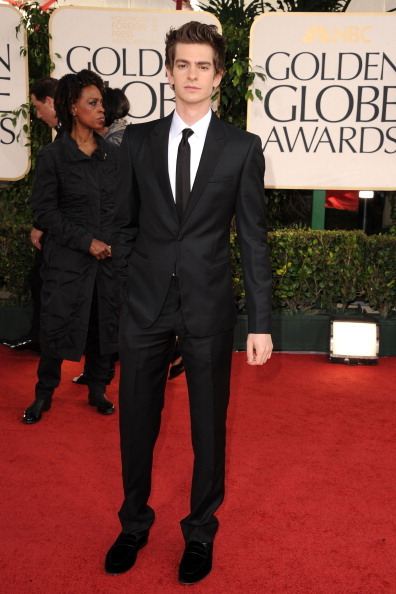 suicideblonde:  Andrew Garfield at the Golden Globes tonight Your friendly neighborhood Spiderman.  Slimtacular!