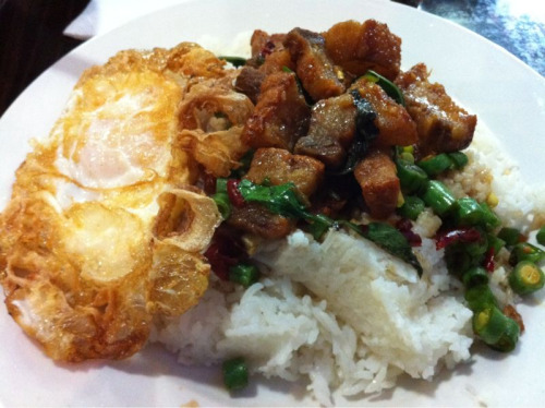 Another planned deviation: Crispy pork ka prow at Hoy-Ka Noodles. Totally worth the cheat.