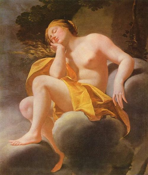 Workshop of Simon Vouet - Schlafende Venus auf Wolken