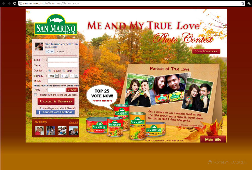 Me and My True Love  Design I did for San Marino's Valentines Promo :)  ISTA our company is responsible for all CDO online ads including websites.. We are running sanmarino website for more than a year.