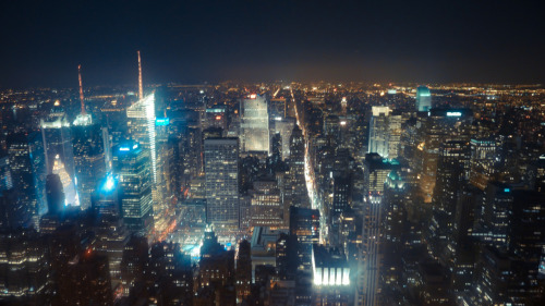 New York City, a view from Empire State Building. I didn't use my tripod so this is the best picture I could get.