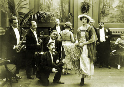 safetylast:  Snub Pollard and Harold Lloyd (in drag) Kicked Out - (1918)