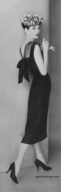 Vogue May 1956 - Model Anne St Marie Photo by Karen Radkai / Conde Nast Archive