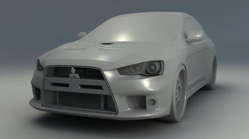 An update on the Lancer model. So close to being done now, only 6 more parts to go. To get an understanding of the detail Im going into check out the inside of the top vent on the front.