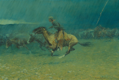 The Stampede Frederic Remington, 1908