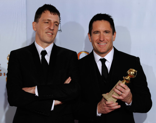 Trent Reznor and Atticus Ross as Golden Globe winners!