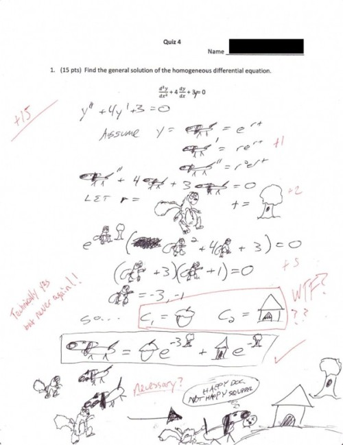 I REALLY wish I was this creative in my math classes…