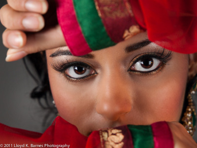 Bollywood Eyes (by Lloyd K. Barnes Photography) Model: Amisha Sampat Hair & Makeup: Makeup Royale Designer: Carma Collections  Photography by Lloyd K Barnes Check out more photos and a music video from the Bollywood fashion photography session on my blog.   Thanks!
