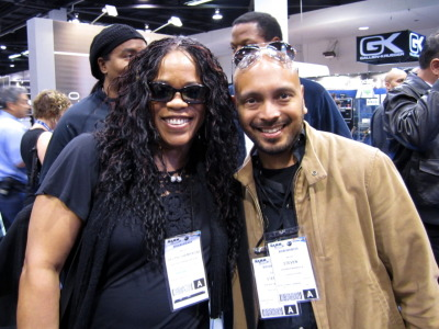 "With Evelyn ""Champagne"" King at NAMM"