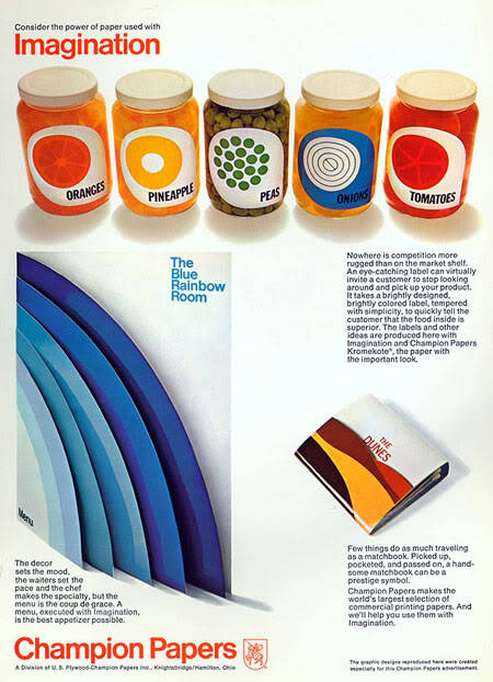 awesome 60s packaging advertising for a paper company