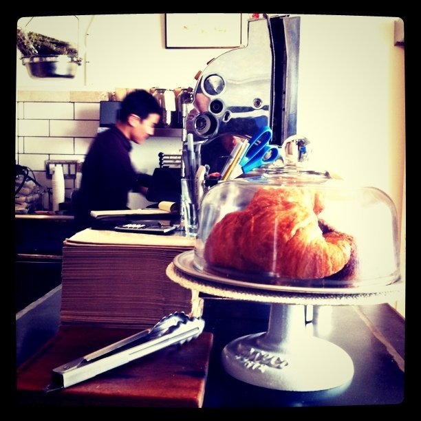 Croissants at the counter (Taken with Instagram at Darwin)
