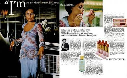 Diahann Carroll in a Fashion Fair Cosmetics ad from the 1970s.