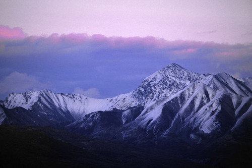 Mountain at Dusk, Wrangell St. Elias National Park - United States