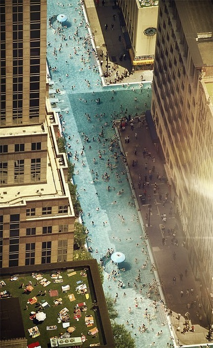 Swimming Manhattan