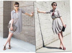 Kelly Framel in Modcloth - Daaaayamn. the glamourai: { one dress } two ways