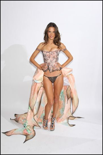 Alessandra Ambrosio at her fitting for the 2010 Victoria's Secret Fashion Show…