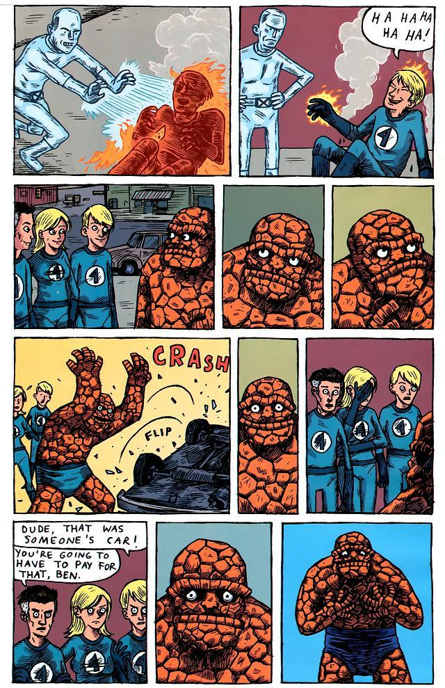 awyeahcomics:  The Fantastic Four by Jeffery Brown