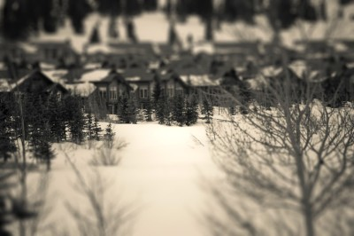 Tilt shift focus… Mammoth, CA