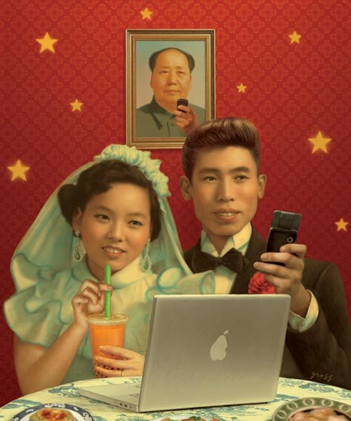 "Check out April Rabkin's look into China's thriving social networks, which just got mentioned over at Longform.    As with Facebook, the membership rolls are astounding and growing rapidly. In a 1.3 billion-strong nation where less than a third of the populace is online, Renren claims about 165 million users. A slogan on a chalkboard in an employee lounge at its HQ claims, ""Every day the number of people joining Renren.com would fill 230 Tiananmen Squares."" Kaixin001 says it has 95 million users."