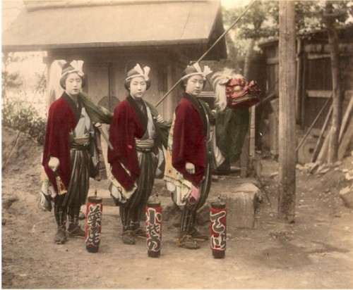 Three Geishas and a Dragon ,c.1875