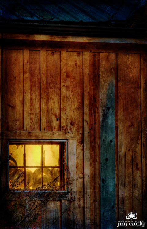 Light the way. Kitchen window at dusk. Inn at Cedar Falls @ Hocking Hills Ohio.