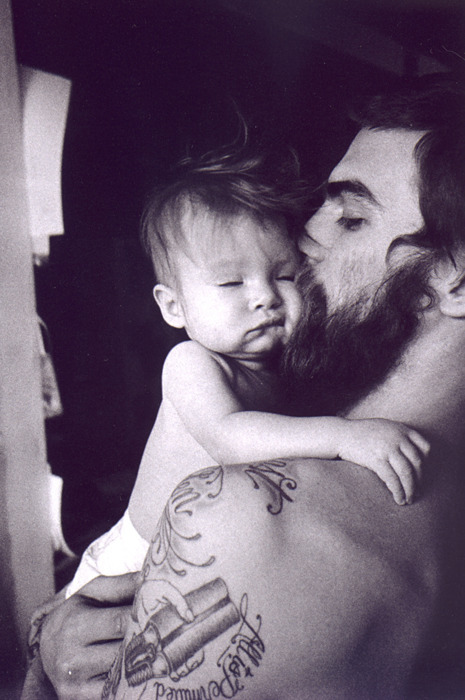 Dash Snow and his daughter Secret.