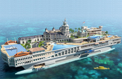 The Streets Of Monaco Mega Yacht Can Reset The Approach Of Luxury Cruising | Tuvie » The level of excess in this concept is just astounding.