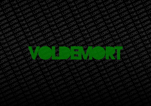 idk bro, i got bored and did this in about 30 seconds and it says voldemort so i think its relevant to my blog