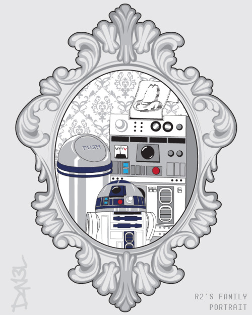 d4n13ldesigns:  Mom, Dad and young R2D2 posing for a timeless family protrait. Available on RIPT Apparel, January 20th, 24 hours only!