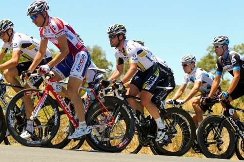 Mark Cavendish rides during stage one of the 2011 Tour Down Under from Mawson Lakes to Angaston on January 18, 2011. Tasmanian Matthew Goss confirmed his overall victory pretensions by winning the opening stage of the Tour Down Under Tuesday ahead of sprint rival and reigning champion Andre Greipel. AFP PHOTO / MARK GUNTER