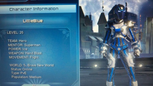 My main hero for dcuo im also a league leader so if any of u want to join just msg me