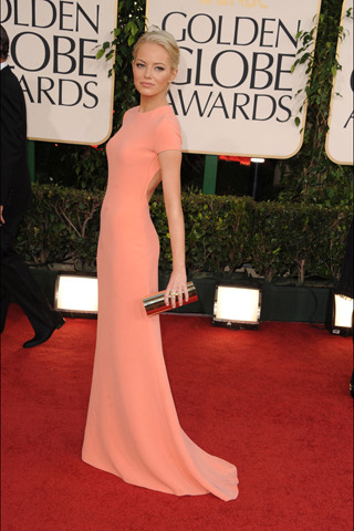 emma stone in calvin klein at the golden globes
