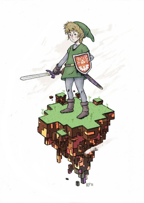 kylefewell:  Illustration of Link I did.
