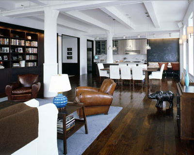 cabbagerose:  hudson street loft/deborah berke partner architects via: dberke  Pretty much what I wish my apartment looked like. Maybe in a few years? I love this style of mixing modern design with classic design.