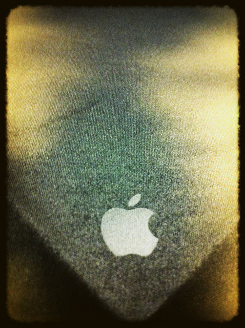 everythingapple:  Apple logo on towel
