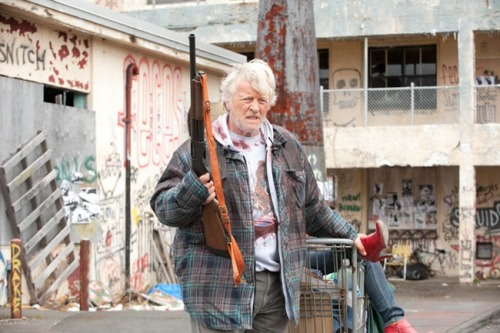 20 Awesome Sundance 2011 Films 6) Hobo With A Shotgun The Film: Tired of being pushed around, Rutger Hauer's titular wanderer-with-a-weapon decides enough is enough.  Why We're Excited: They had you at 'Shotgun,' right?  But Jason Eisener's exploitation homage also comes with a solid, First Blood-esque premise and, in Hauer, an icon out to prove how underrated he's always been.