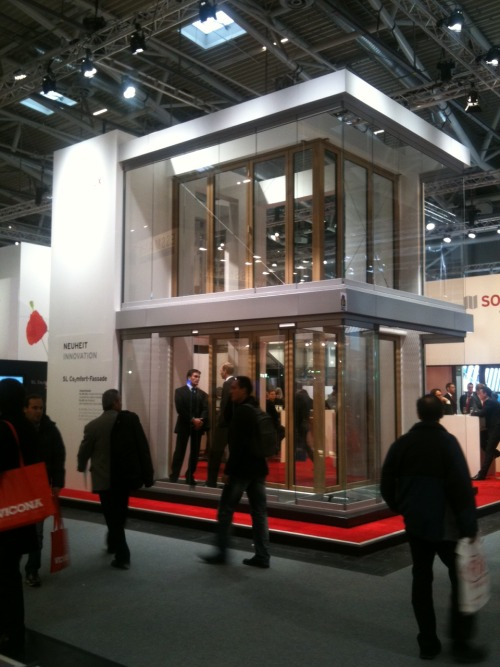 SOLARLUX CO2MFORT FACADE IN MUNICH BAU FAIR Foto: Rouven Holz www.doorline.de