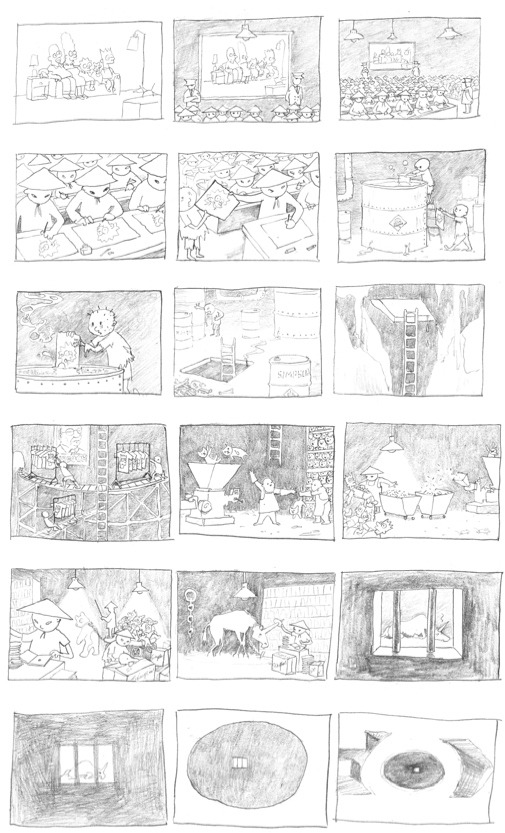 kekkoz:  Banksy's Original Storyboard for the Simpsons Intro
