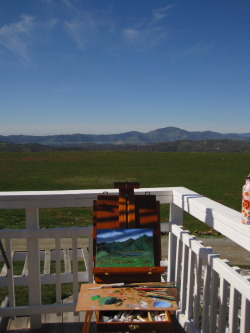 Painting on a perfect day!