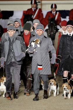 MOAR DOGS IN RUNWAY SHOWS, PLEASE! Fucking Young! » Moncler Gamme Bleu Fall/Winter 2011