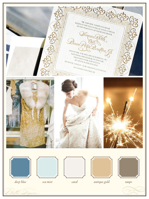 Beautiful color palette for a wedding