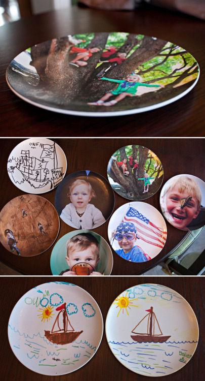 Fantasic idea to mix art and photos on the plates. Freckle PhotoBlog » Our fine China …