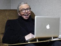 thedisillusionists:Noooooooooooooooooo! Roger Ebert is going to do movie reviews on TV again!http://news.yahoo.com/s/ap/20110119/ap_en_tv/us_ebert_review_show_2He is 68 years old and has no bottom jaw due to Thyroid Cancer. I am in no way making fun what he