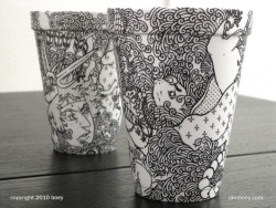 Cheeming Boey discusses his Styrofoam cup sharpie art.