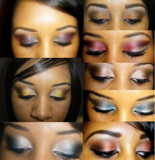 A collage of past looks. Got a color combo you want me to try? Let me know!