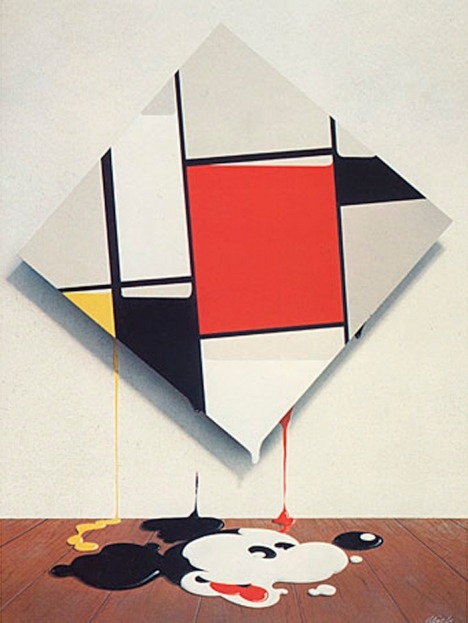 tataraseitetsu:  randominternet:  Mickey Mondrian by Mick Haggerty, 1976 via erizonaranja  shinoddddd reblogged utld: