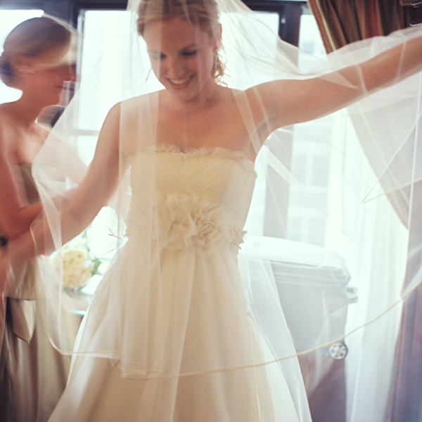 ivory a-line embellished wedding gown~