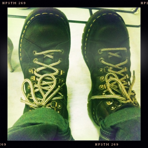 Handy Dandy, Faithful, Trustworthy, Doc Marten's.  Melodie Lens, Pistil Film, Standard Flash, Taken with Hipstamatic