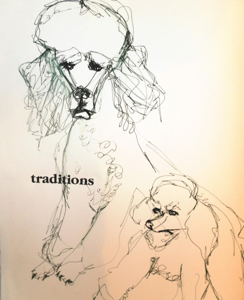 blondelasagna:  Traditions, a poodle's family portrait